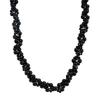 Sterling Silver Onyx Bead Necklace