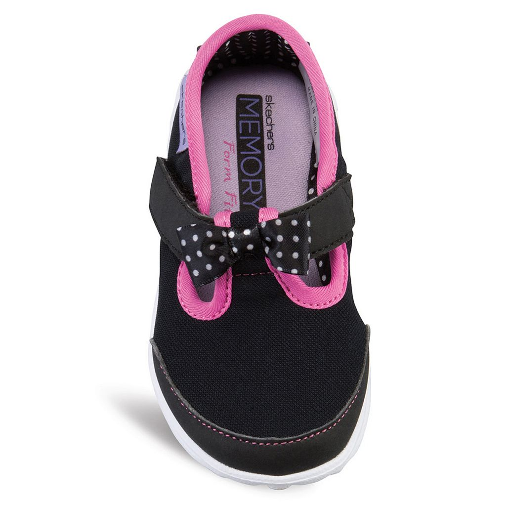 Skechers GOwalk Bitty Bow Toddler Girls' Sneakers