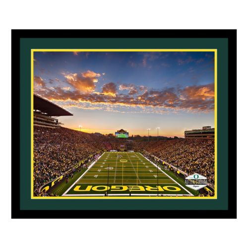 Oregon Ducks Stadium Framed Wall Art