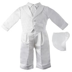 Baby Boy American Originals Dobby Christening Vest & Pants Set
