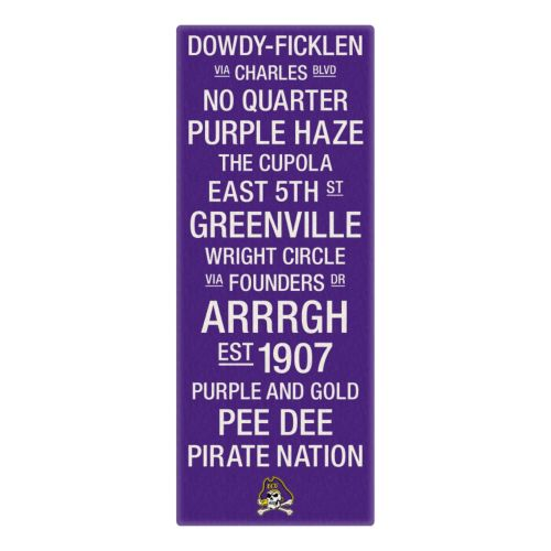 East Carolina Pirates Subway Canvas Wall Art