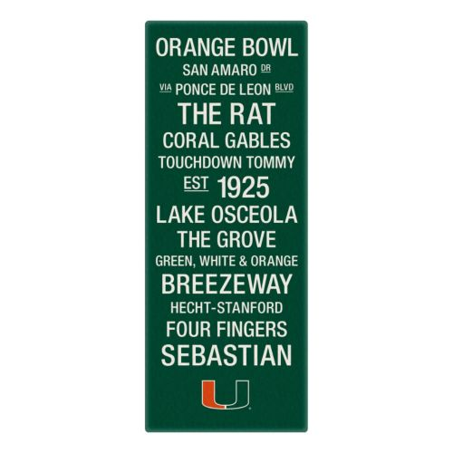 Miami Hurricanes Subway Canvas Wall Art