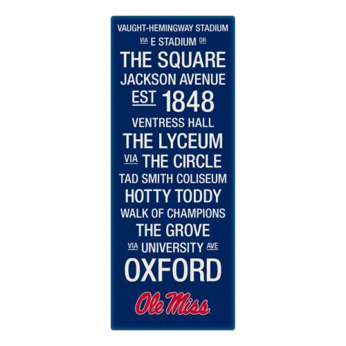 Ole Miss Rebels Subway Canvas Wall Art