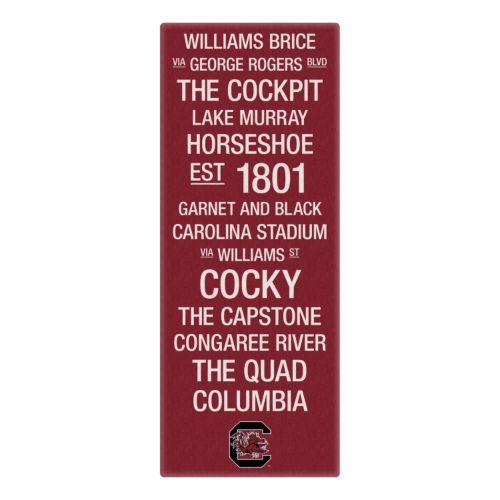 South Carolina Gamecocks Subway Canvas Wall Art