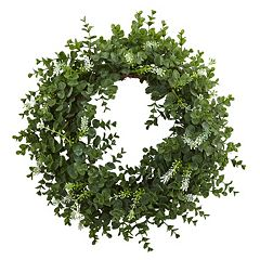 Click here to buy nearly natural Artificial Eucalyptus Wreath.
