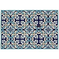 Trans Ocean Imports Liora Manne Ravella Floral Tile Indoor Outdoor Rug