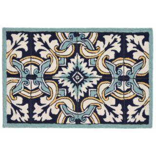 Liora Manne Ravella Floral Tile Indoor Outdoor Rug