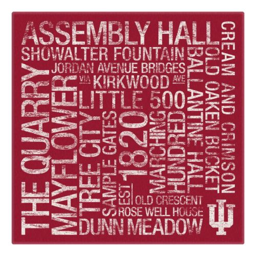 Indiana Hoosiers Subway Canvas Wall Art
