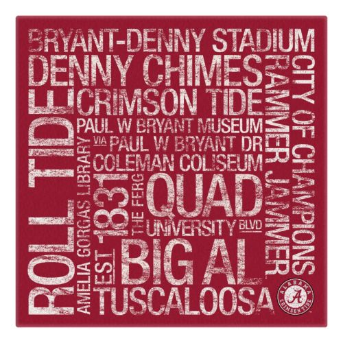 Alabama Crimson Tide Subway Canvas Wall Art