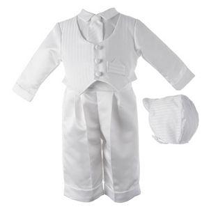 Baby Boy American Originals Dobby Christening Vest & Pants Set