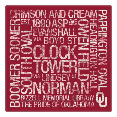 Oklahoma Sooners Subway Canvas Wall Art