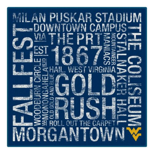 West Virginia Mountaineers Subway Canvas Wall Art