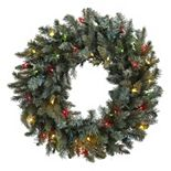 nearly natural Pre-Lit Colored Lights Artificial Pine Wreath