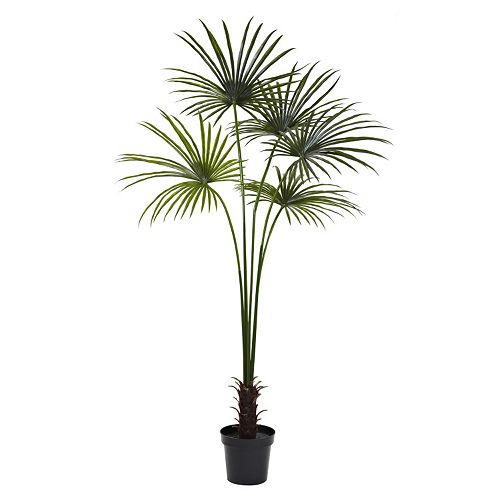 nearly natural 7-foot Artificial Fan Palm Tree