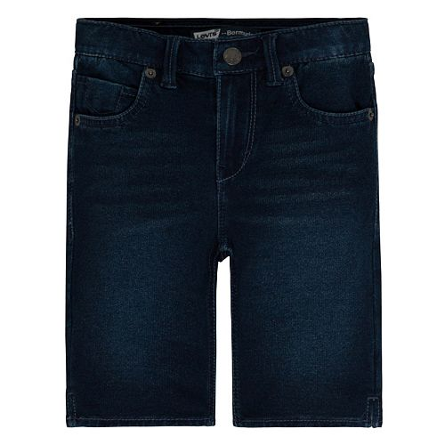 Girls 4-6x Levi's Faux-Denim Knit Bermuda Shorts