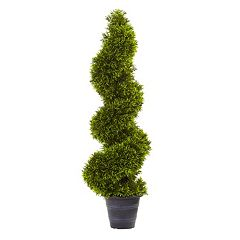 nearly natural Artificial Grass Spiral Topiary Plant