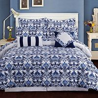 Catalina 5-piece 300 Thread Count Egyptian Cotton Percale Printed Duvet Cover Set