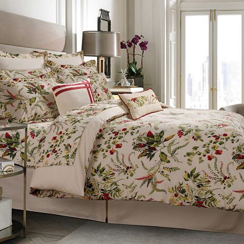 Maui 5-piece 300 Thread Count Egyptian Cotton Percale Printed Duvet Cover Set