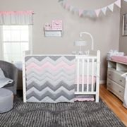 Trend Lab Cotton Candy 3 pc Chevron Crib Bedding Set