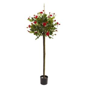 nearly natural Artificial Rose Topiary