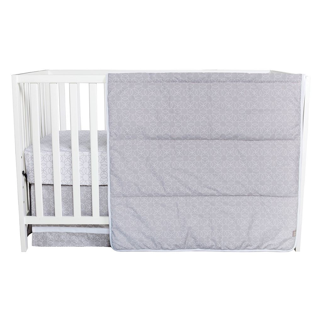 Trend Lab Circles Gray 3-pc. Crib Bedding set