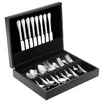 Hampton Forge Brooke 54 pc Flatware Set with Wood Chest