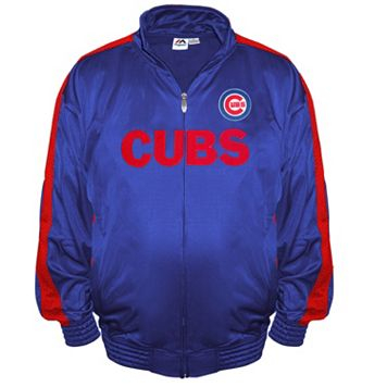 Big & Tall Majestic Chicago Cubs Tricot Track Jacket