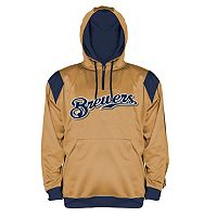 Big & Tall Majestic Milwaukee Brewers Quarter-Zip Hoodie