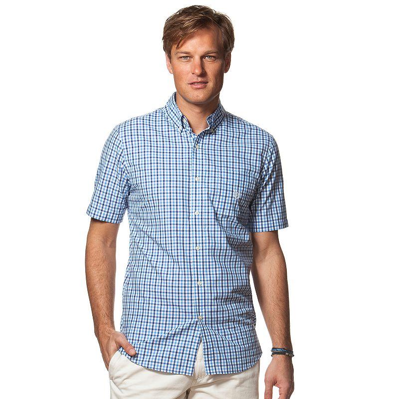 Men's Chaps Classic-Fit Gingham Plaid Easy-Care Button-Down Shirt