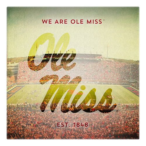 Ole Miss Rebels Stadium Canvas Wall Art