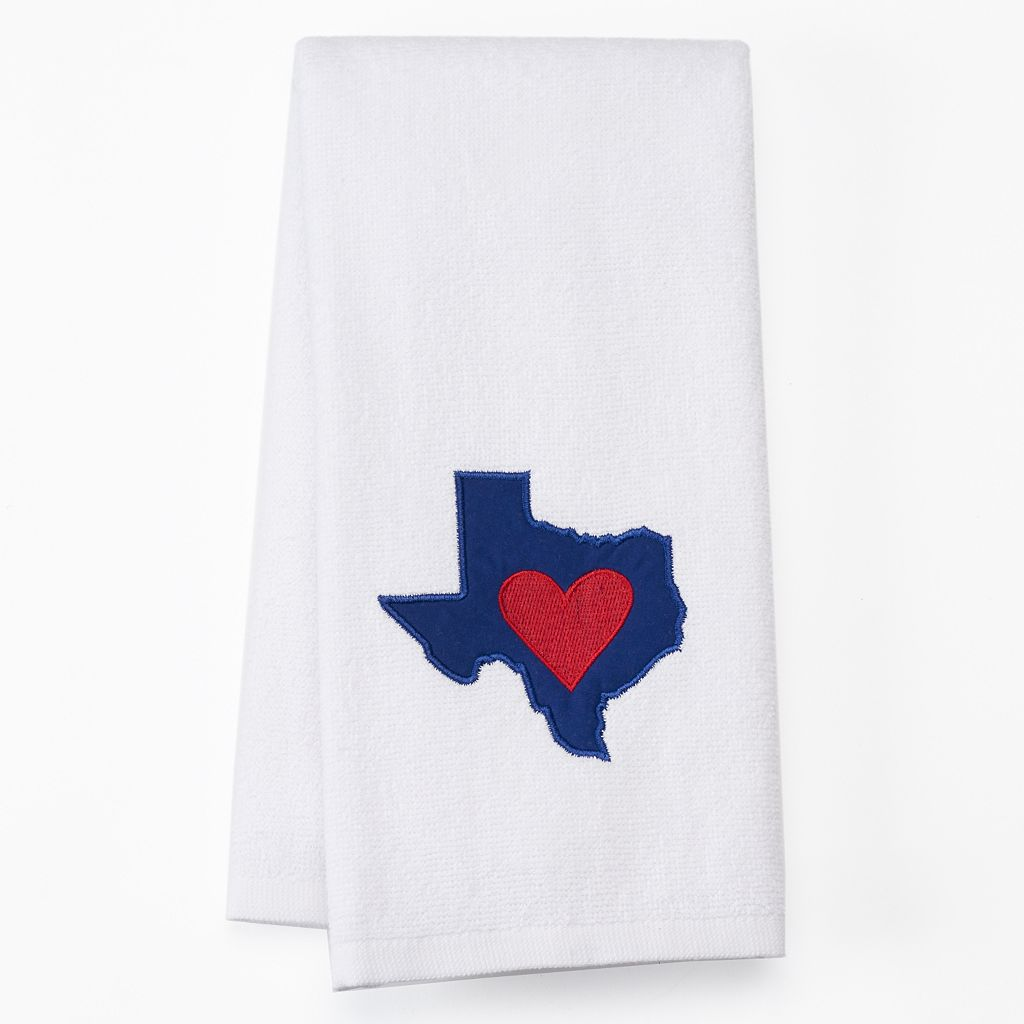 Celebrate Local Life Together Texas Heart Kitchen Towel