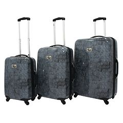 Chariot Crocodile 3 pc Hardside Spinner Luggage
