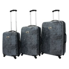Chariot Crocodile 3-Piece Hardside Spinner Luggage