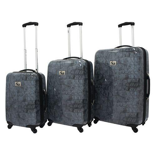 Chariot Crocodile 3-Piece Hardside Spinner Luggage