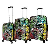 Chariot Colorful 3 pc Hardside Spinner Luggage