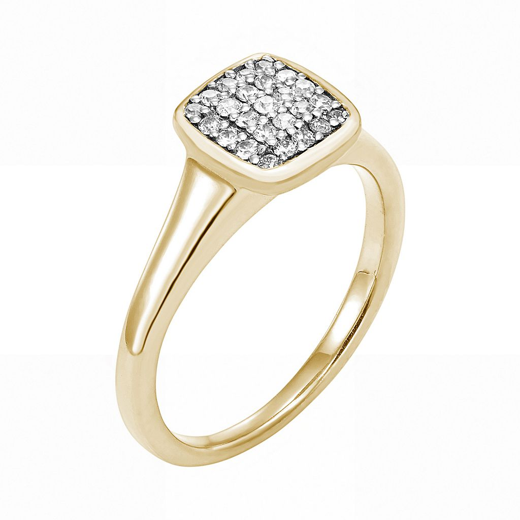 LOVE 360 10k Gold 1/4 Carat T.W. Diamond Wedding Ring