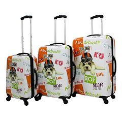 Chariot Fly Dog 3-Piece Hardside Spinner Luggage