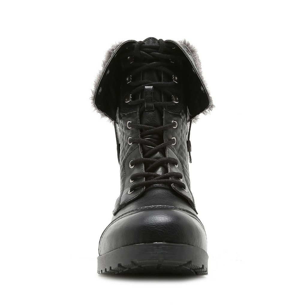 Qupid Wyatte Women's Fold-Down Combat Boots