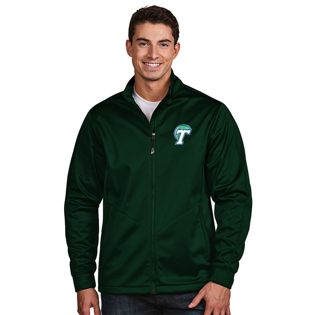 Men's Antigua Tulane Green Wave Waterproof Golf Jacket