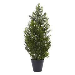 nearly natural 2-ft. Indoor / Outdoor Mini Artificial Cedar Tree