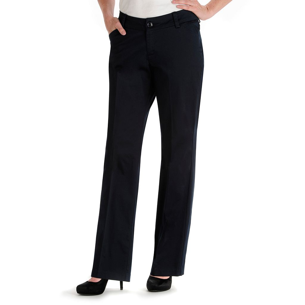 Petite Lee Maxwell Modern Fit Curvy Dress Pants