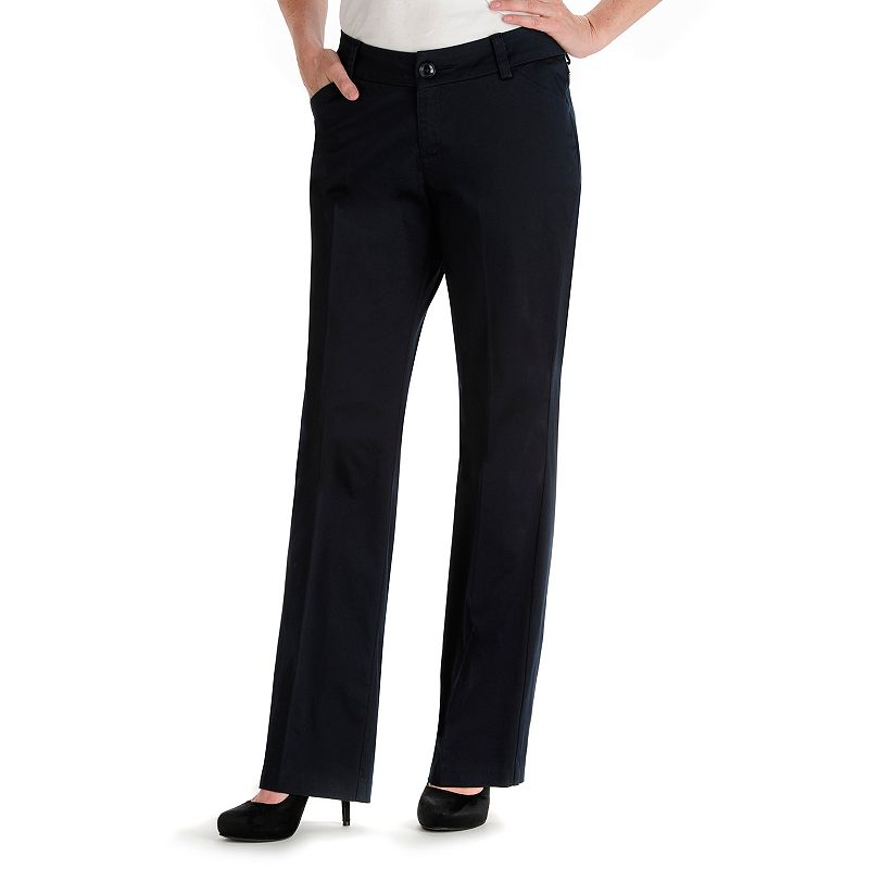 Petite Lee Maxwell Modern Fit Curvy Dress Pants, Women's, Size: 4 Petite, Dark Blue