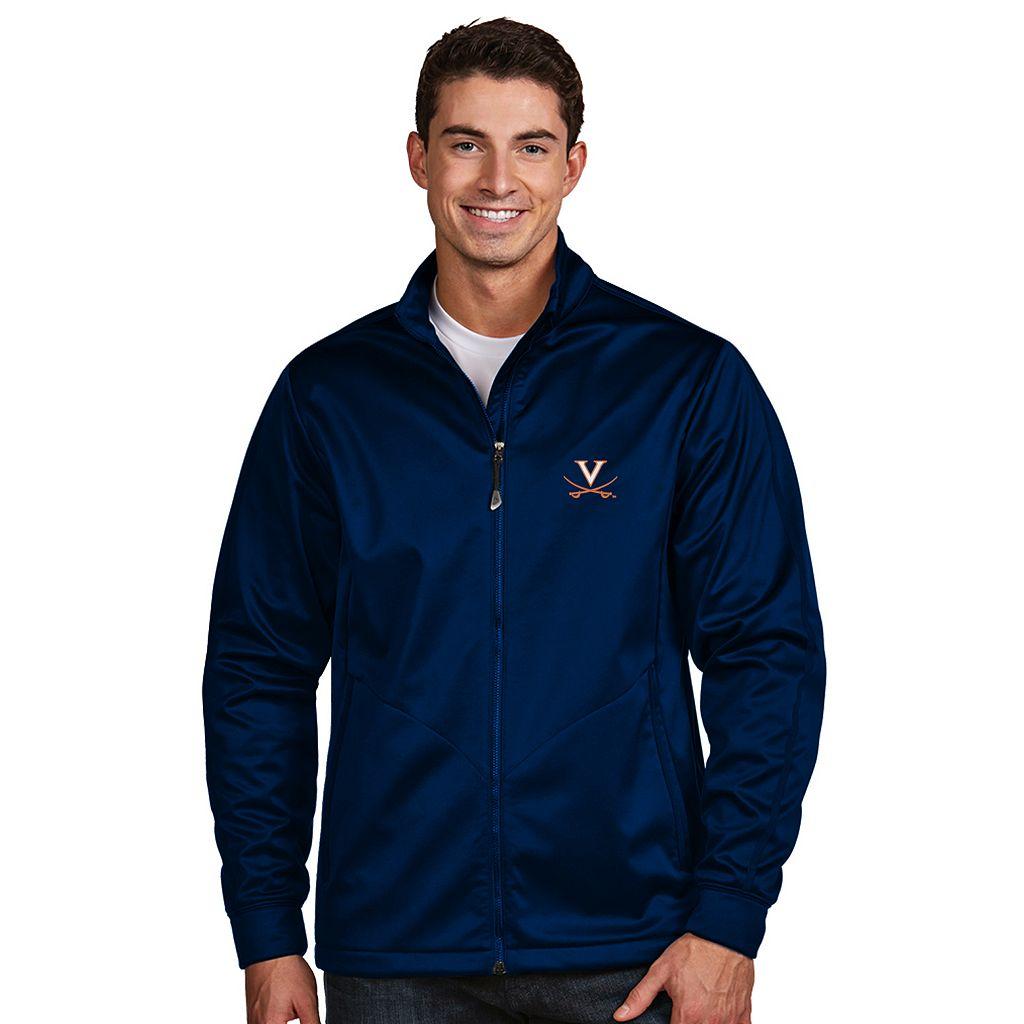 Men's Antigua Virginia Cavaliers Waterproof Golf Jacket