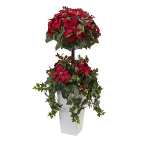 nearly natural Artificial Poinsettia Topiary