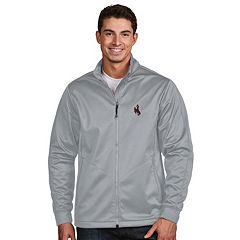 Men's Antigua Wyoming Cowboys Waterproof Golf Jacket