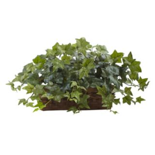 nearly natural Artificial Puff Ivy Ledge Basket