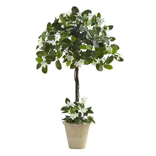 nearly natural Artificial Stephanotis Topiary
