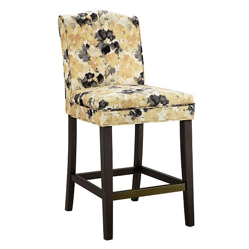 Madison Park Peyton Camel Back Counter Stool