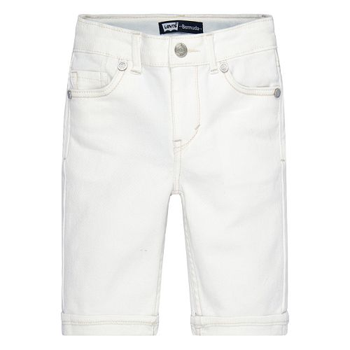 Toddler Girl Levi's White Jean Bermuda Shorts