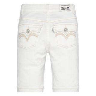 Toddler Girl Levi's White Jean Bermuda Shorts